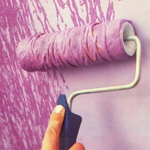 Putting yarn around a paint roller can add a little flair to your wall painting