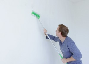 If you Swiffer your walls before painting, you can remove dirt and grime easily