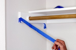 Remove painters tape at a 45 degree angle for better, cleaner lines