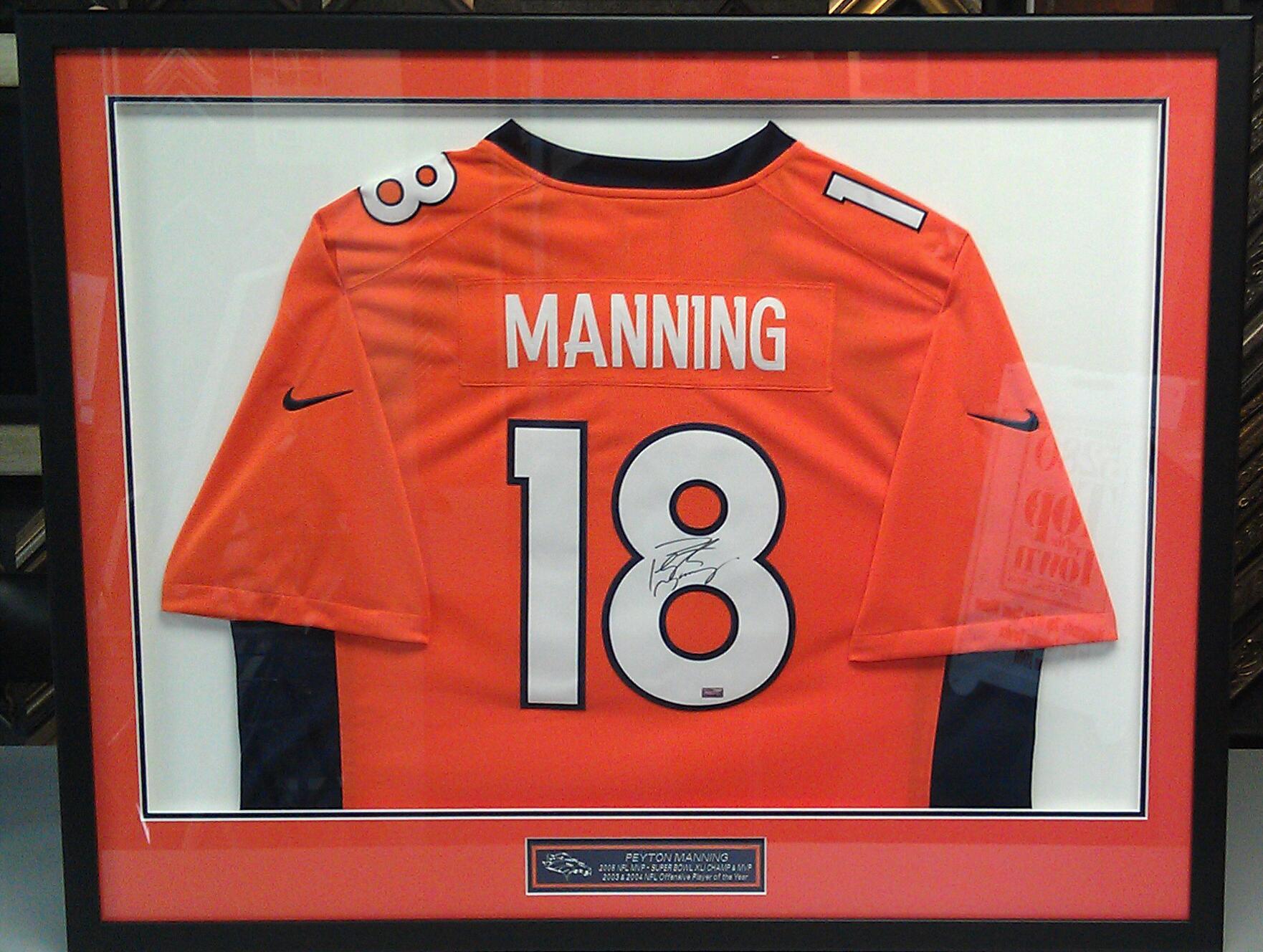 Framing Sports Jerseys